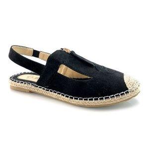 DBDK Shoes - NEW Black Darlina Sling-back Espadrille